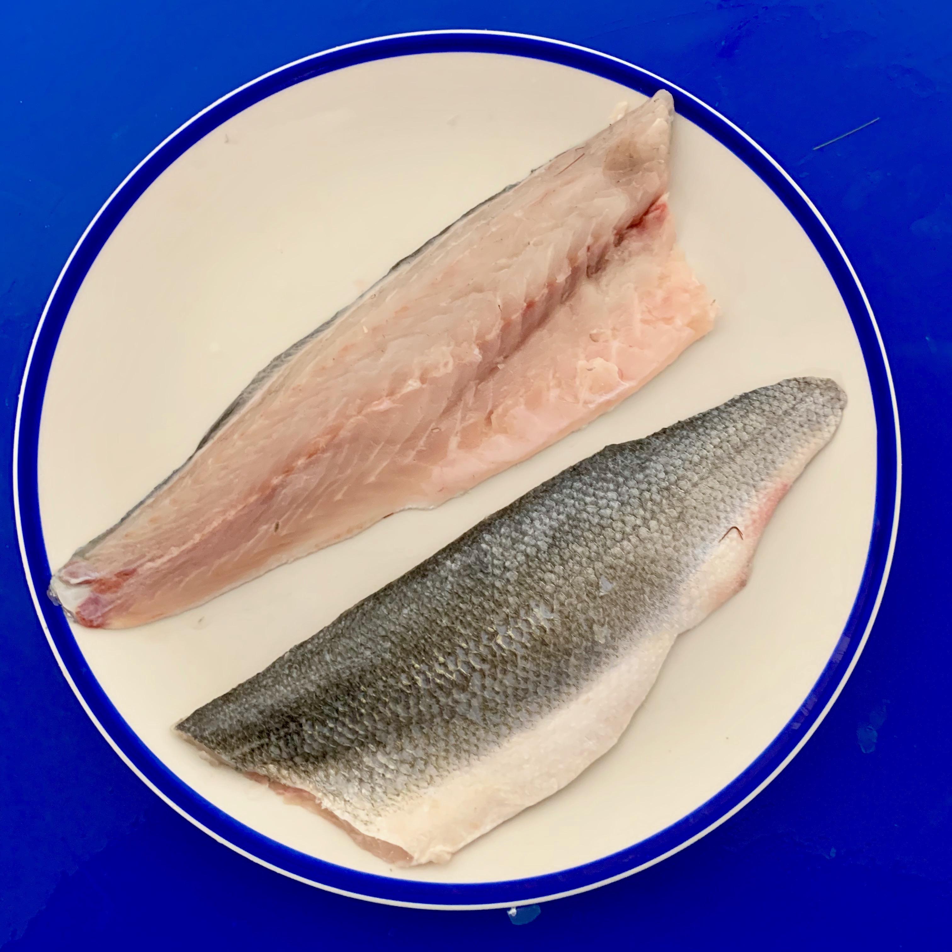 Medium Sea bass fillets farmed